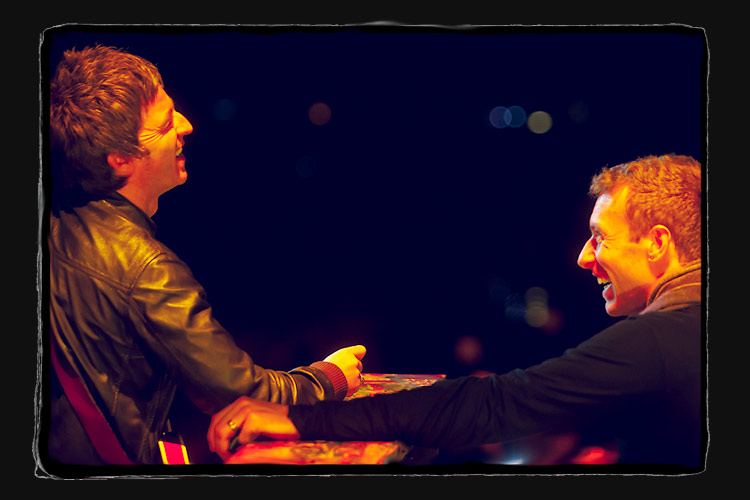 Noel and Chris at BRIT Awards